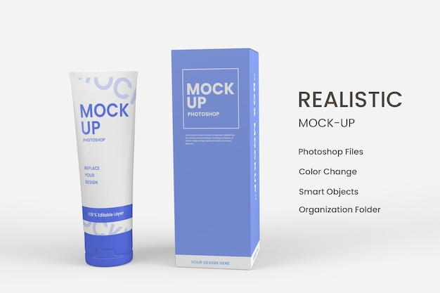 Дизайн увлажняющих косметических продуктов по уходу за кожей изолирован