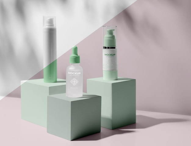 Skincare products mock-up assortment