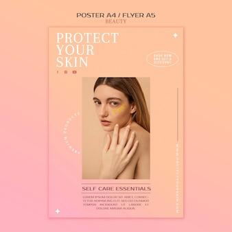Skincare products print template
