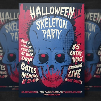 Skull Halloween Party Flyer Template