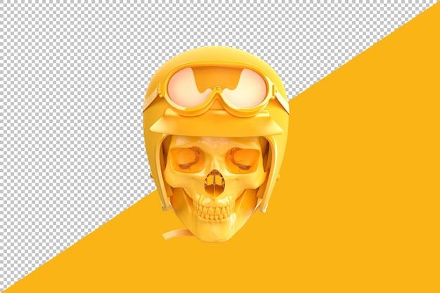 헬멧과 고글에 해골입니다. 3d 렌더링