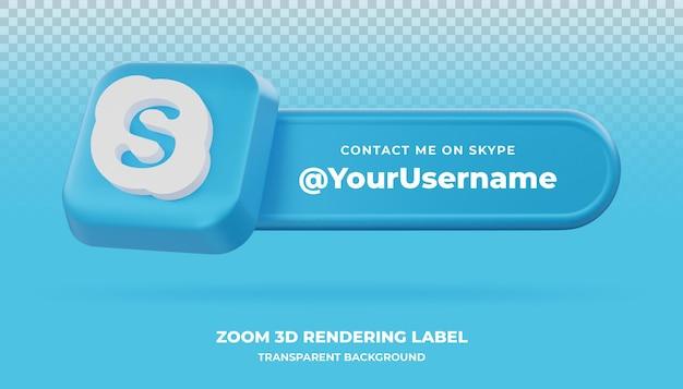 Skype 3d рендеринга баннер изолированные