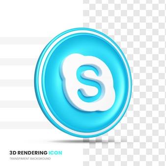 3d 렌더링의 스카이프 아이콘