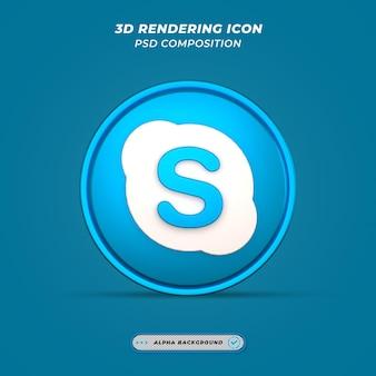 Значок skypee в 3d-рендеринге