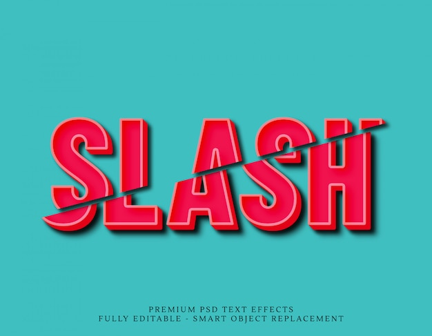 Slash text effects