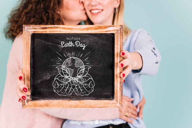 Slate mockup for mothers day