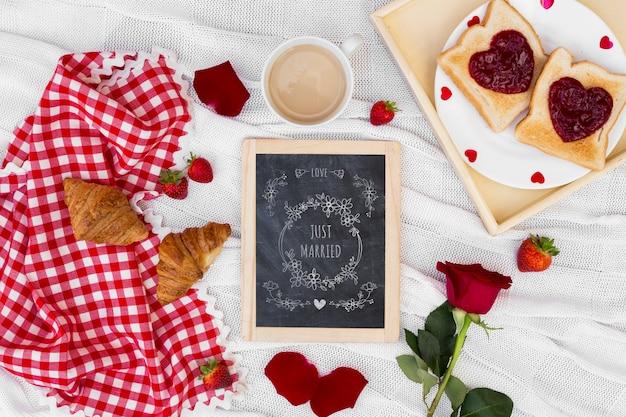 Slate mockup for valentine