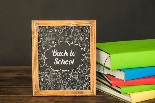 Slate mockup with back to school concept