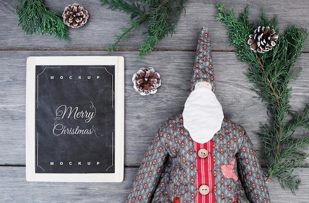 Slate mockup with christmas concept