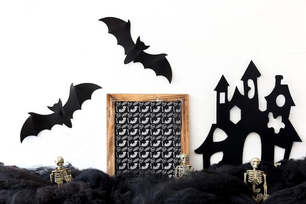 Шиферный макет с концепцией хэллоуина