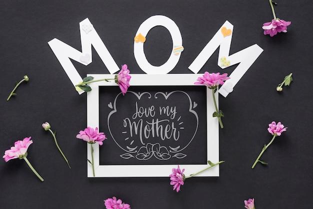 母の日の概念とスレートモックアップ