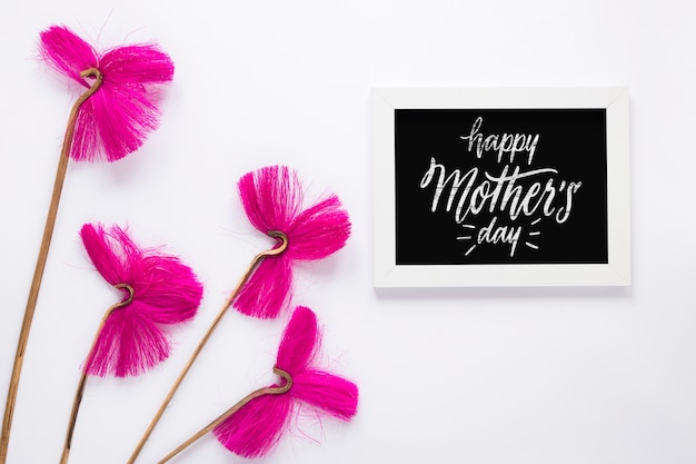 Slate mockup with mothers day concept