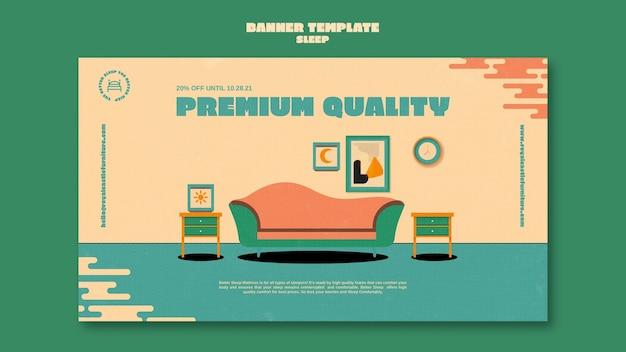 Sleeping furniture banner design template