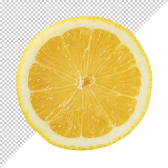 Ломтик спелых лимонов цитрусовых на прозрачном фоне