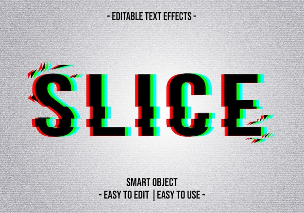 Slice text effect
