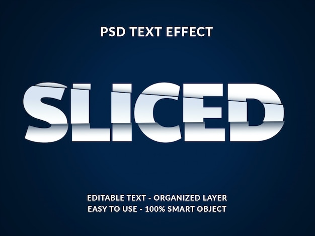 Sliced 3d text style effect mockup with paper cut style