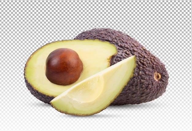 Нарезанный спелый авокадо изолированные