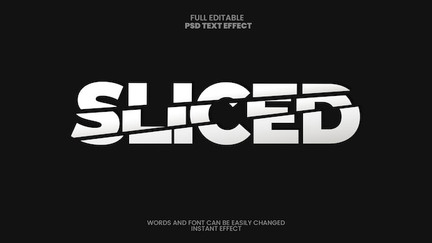 Sliced text effect