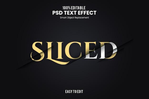 Эффект slicedtext