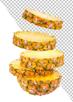 Slices of pineapple isolated