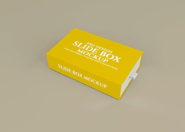 편집 가능한 배경이있는 슬라이드 상자 모형