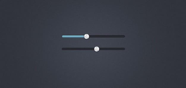 Slider interface & metal handle (psd)