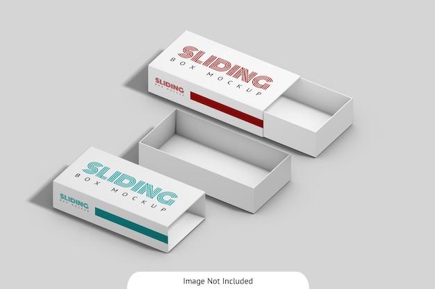 슬라이딩 상자 이랑 디자인 절연 프리미엄 PSD 파일