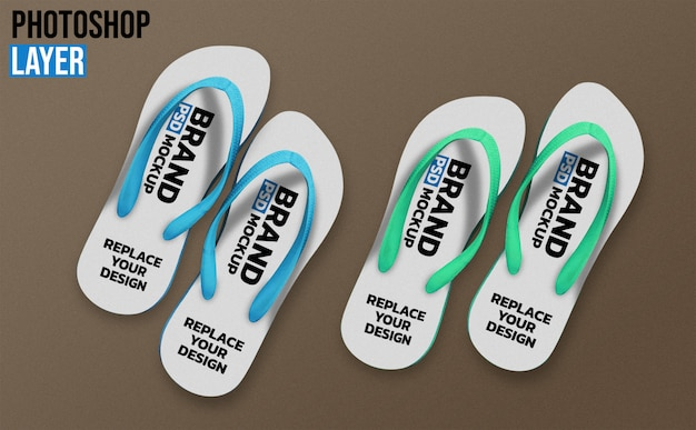 Slippers mockup design