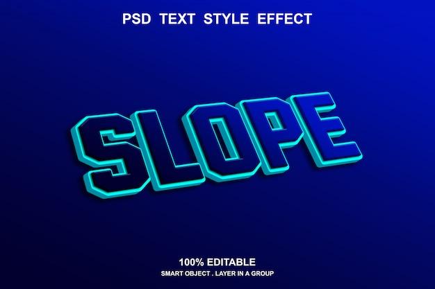 Наклонный текстовый эффект