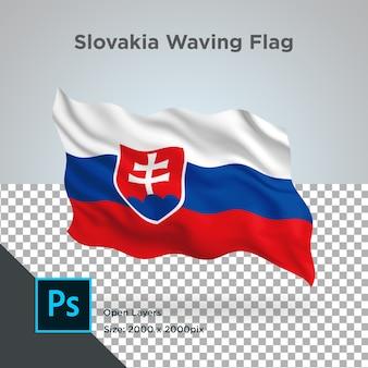 슬로바키아 깃발 물결 디자인-투명