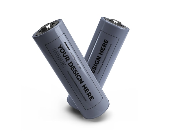 Маленький 3d-макет батареи аа изолирован