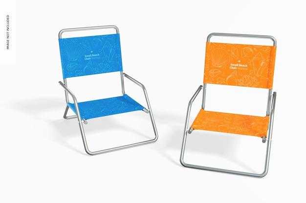Мокап маленьких пляжных стульев