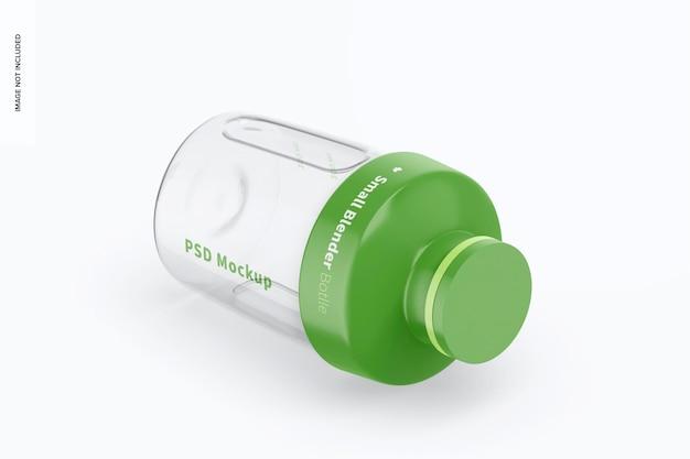 Mockup di piccola bottiglia per frullatore, vista isometrica a sinistra