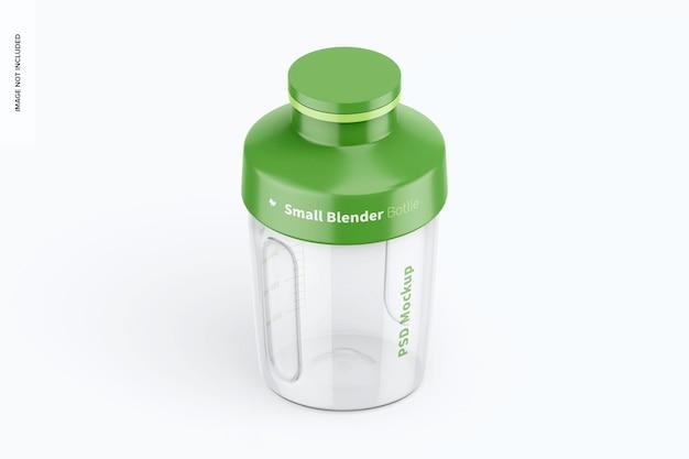 Mockup di piccola bottiglia frullatore, vista isometrica