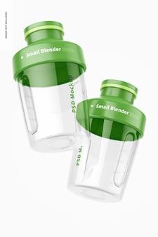Mockup di piccole bottiglie per frullatore, galleggiante