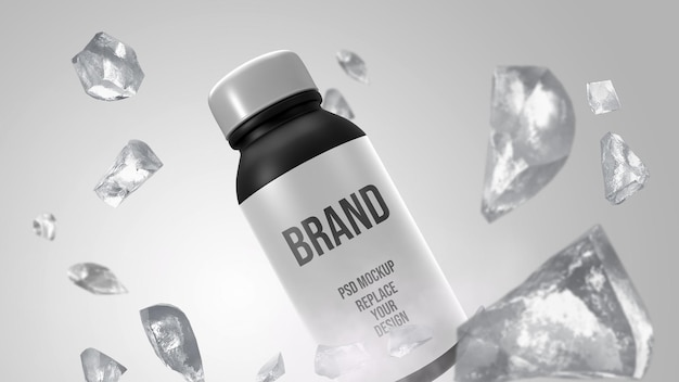 Small bottle mockup 3d rendering design