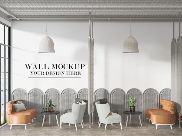 작은 카페 또는 레스토랑 벽 템플릿