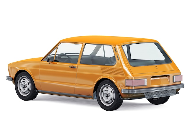Small city car 1980 mockup