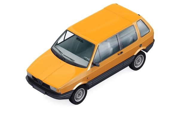 작은 도시 자동차 모형