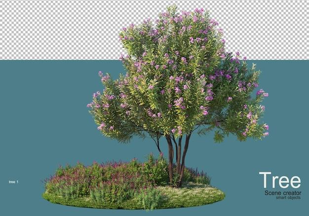 Small flower garden Premium Psd