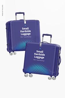 Small hardside luggage mockup, floating