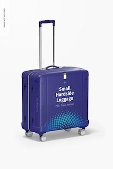 Small hardside luggage mockup, perspective