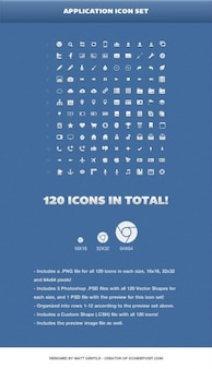 Small icons set in PSD