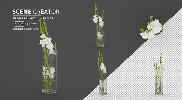 Маленький интерьерный цветок в стеклянном горшке создатель сцены