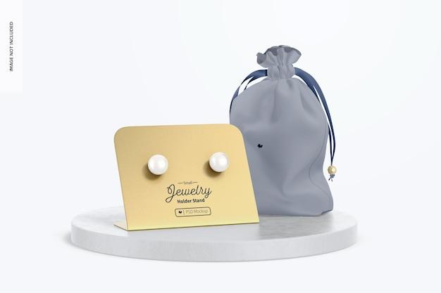 Small jewelry holder stand mockup