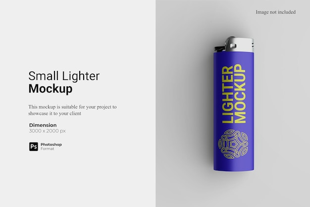 Small lighter mockup design isolated