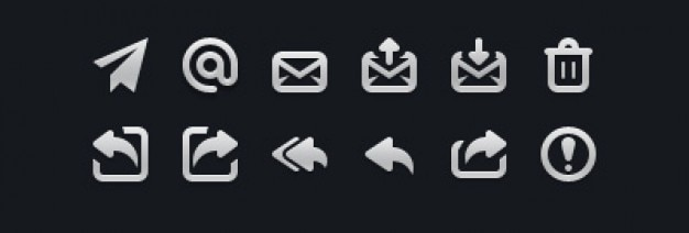 Small mail icons in psd