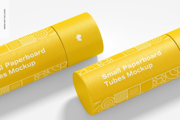 Small paperboard tubes mockup