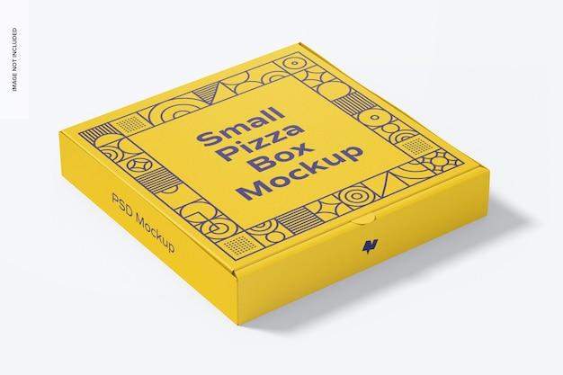 Мокап маленькой коробки для пиццы