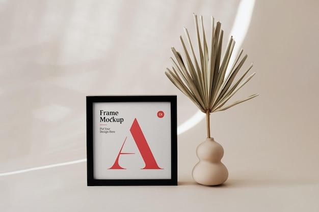 Small poster frame mockup